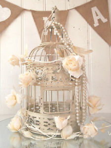 Vintage Style Decorative Bird Cage Wedding Table Centerpiece Birdcage Metal Ivor