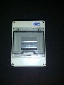 Electrical Enclosure 4 - 5 way IP65 NO mcbs 5 way New!!!!!!