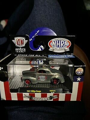 2021 M2 Super Chase 250 Raw 1941 Willys Coupe NHRA Racing Walmart Raw Exclusive