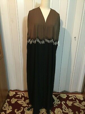 Evening women abaya maxi beaded cape cover up mashlah boncho jacket ethnic