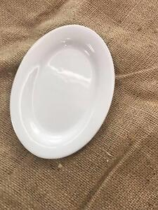 White Oval Tapas/Dessert Plates - Rustic Country Wedding Dural Hornsby Area Preview