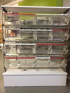 Bulk food / candy bin display units