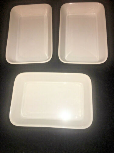 "Braniff International Airlines Serving Plates Dish 6.5""x4.5"" Lot of 3"