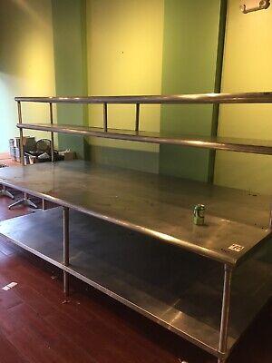 Kitchen Stainless Steel 10x5 Inch Work Table With Backsplash 120x60