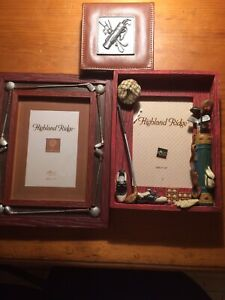 Golf Picture Frames and Notepad $15
