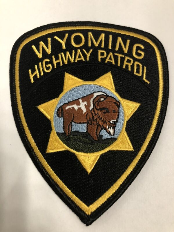 Wyoming Highway Patrol Police Patch ~ New Condition