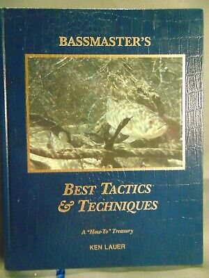 Book BASSMASTER'S Best Tactics & Techniques Ken Lauer fishing lures bait