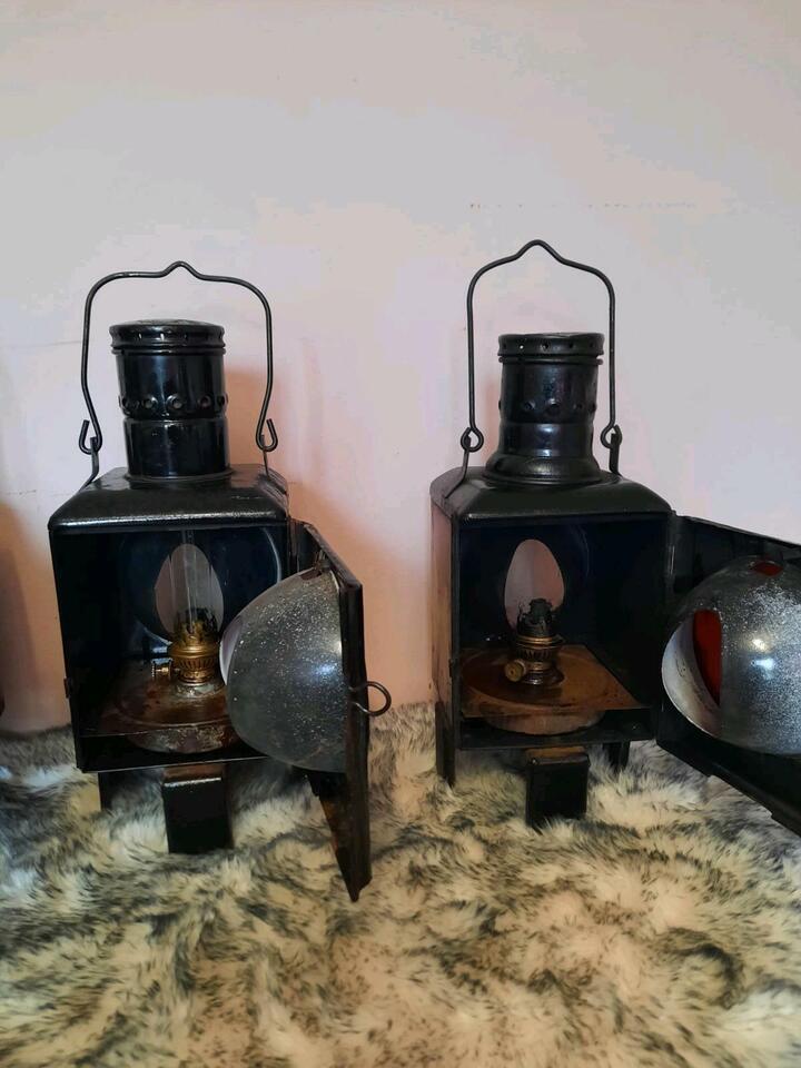 Antike Bahnhofslampen, Signallampen in Groß-Gerau