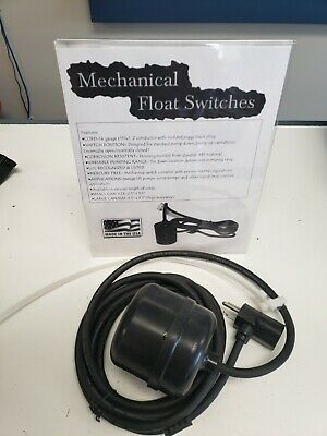L-10-d Mechanical Float Switch Normally Open Sump Pump Application By Csh- New