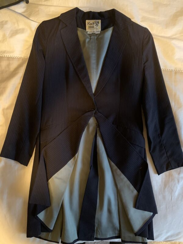 Reed Hill 3 Piece Navy Pinstripe SaddleSeat Suit Child sz 12