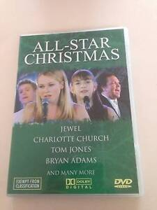 ALL-STAR CHRISTMAS 27 TRACK DVD,Feat JEWEL BRYAN ADAMS TOM JONES Cheltenham Hornsby Area Preview