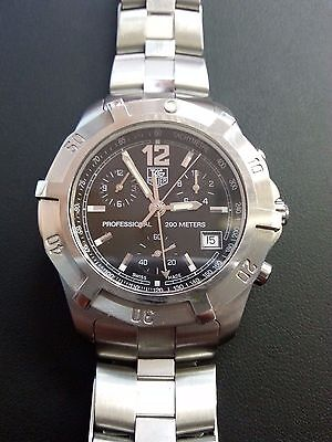 TAG Heuer Professional Black Chronograph Dial Stainless Steel 200M CN1110