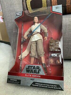 "Star Wars Disney Elite Series Rey 10"" Doll Figure 30+ Articulated MIB Sealed"