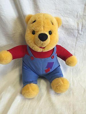 Vintage 1997 Disney Mattel Hug N Wiggle Giggle Winnie The Pooh Talking 15  Bear