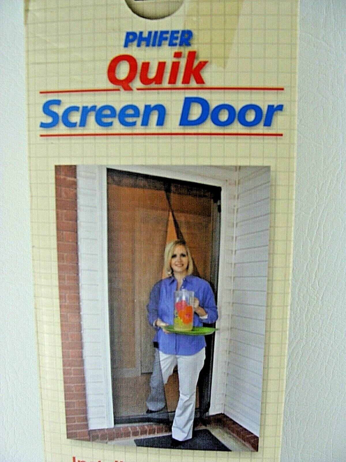 Quik Screen Door Fiberglass Magnetic Self Closing Magnet Pet