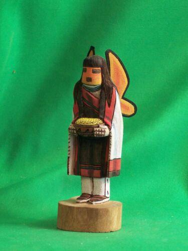 Hopi Kachina Doll - Poli Mana, the Butterfly Kachina by Philander Shelton