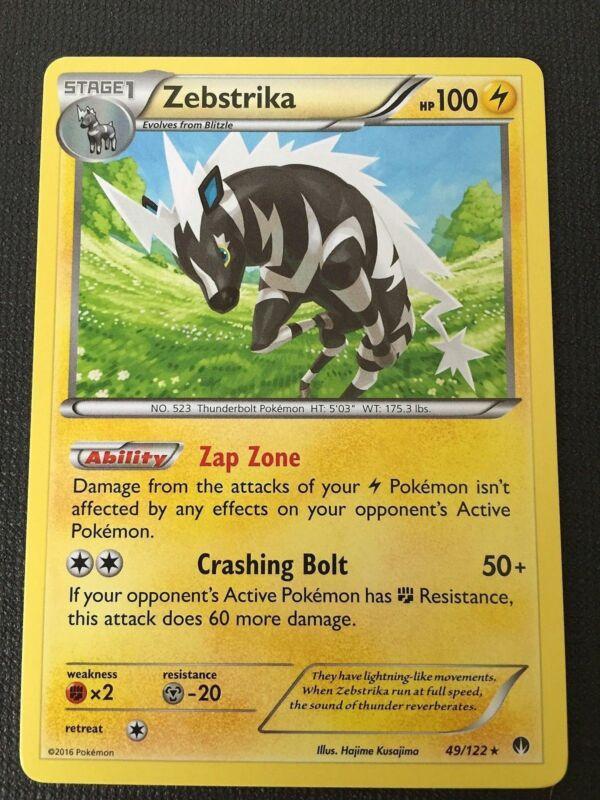 Pokémon TCG ZEBSTRIKA #45//181/& BLITZLE #44//181 Tag Team Up Mint English Lightnin
