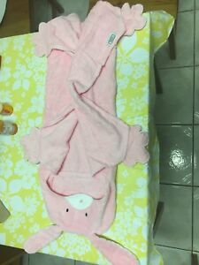 Bunny and Frog hooded towel for dog
