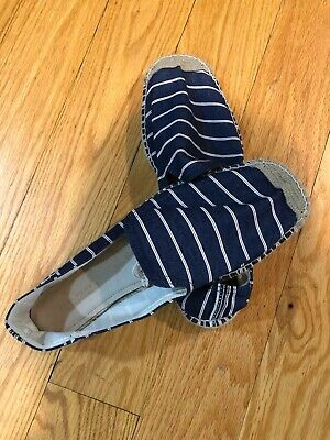 Zara Home Men's Collection Blue Stripe Espadrilles Size EU 44 Shoes Sandals