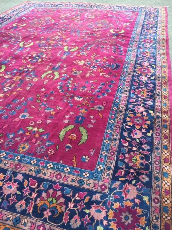 Antique Oriental Rug Turkish Rectangle Large 11