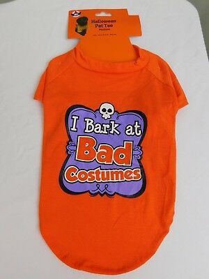 I Bark at Bad Costumes Halloween Dog Costume T-Shirt Medium #7442