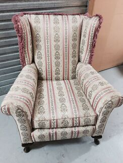 2 x American wingback chairs