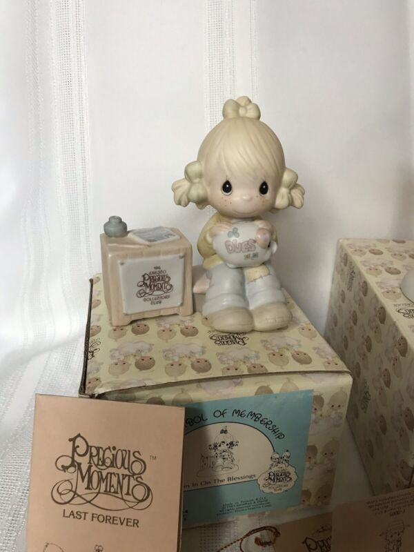 PRECIOUS MOMENTS MEMBERSHIP  FIGURINE E-0404 Join in on the Blessings NIB