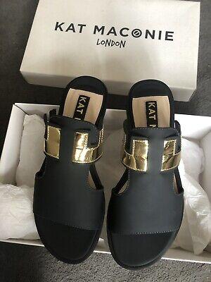 Kat Maconie Gold Detail Slipper Sandle Size3/ 36 BNWB RRP£160