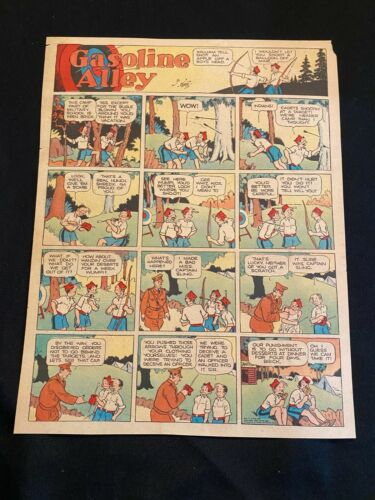 #71 GASOLINE ALLEY by Bill Perry Sunday Tabloid Full Page Strip June 2, 1935