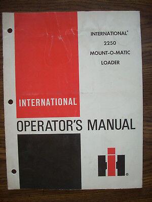Ih Farmall International 2250 Loader Owners Manual