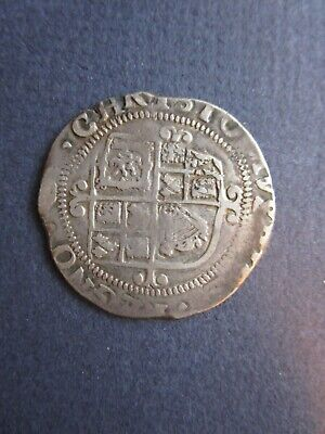 GB UK CHARLES I, Hammered Silver Shilling or 12 Pence. ND
