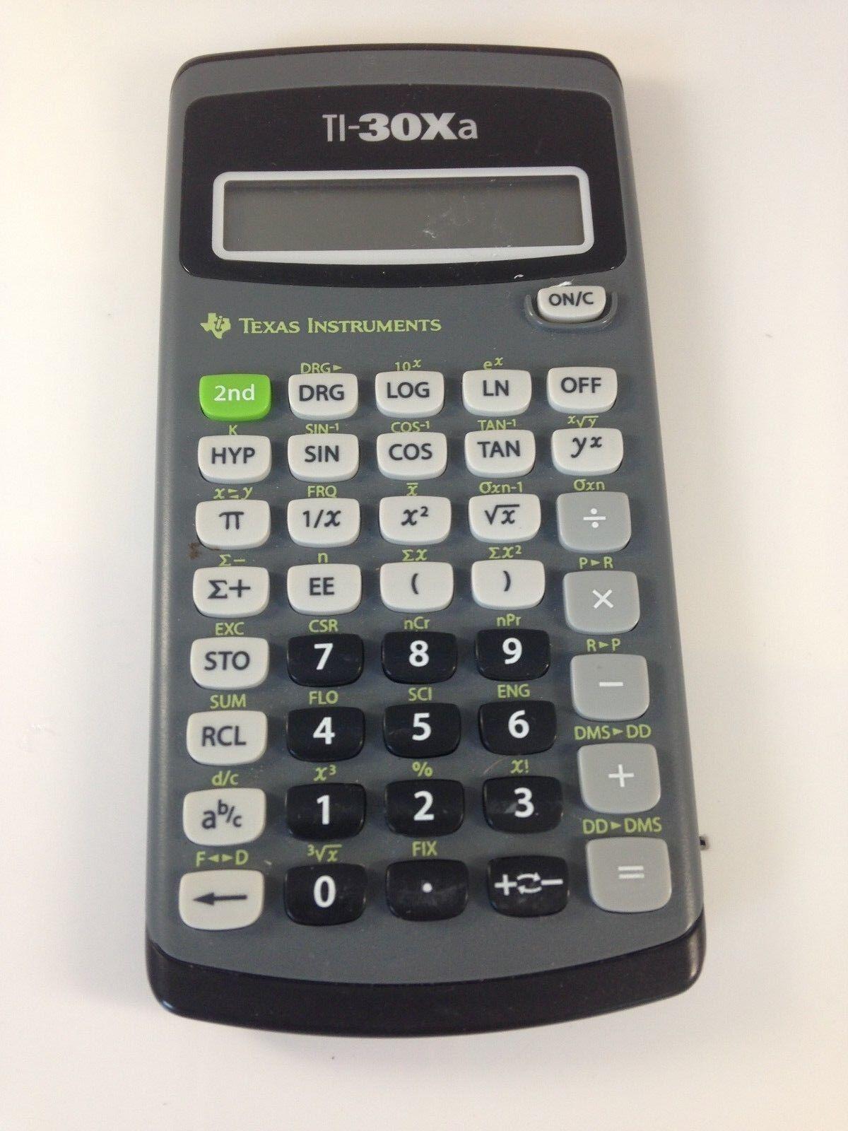 Texas Instruments TI-30Xa  Scientific Portable Calculator No Case