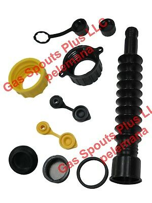 Universal Gas Can Spout W Screen Diesel Fuel Gsp Heavy Duty Parts Kit 2 Collars