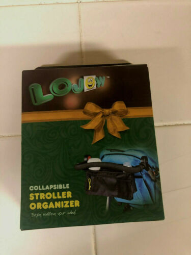 Lojow Collapsible Stroller Organizer, Black, 2 Insulated Drink Holder NEW!!!