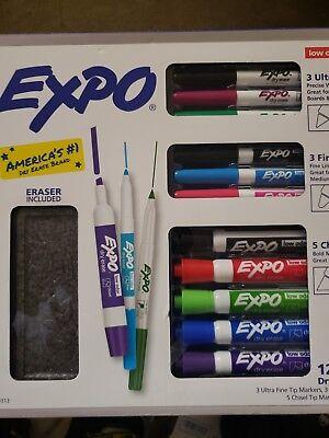 Brand New Expo 12 Piece Dry Erase Marker Set