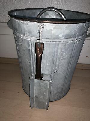 Rustic Storage Metal Tin/small Bin With Scoop Pet Food Bird/rabbit Etc Cute Nove