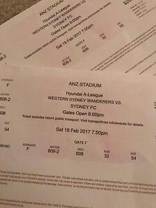 Two tickets for sale WSW v SFC Castle Hill The Hills District Preview