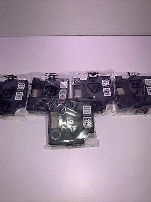 5pk For Dymo D1 Label Tape 12mm Black On White 45013 S0720530 Cassette 12