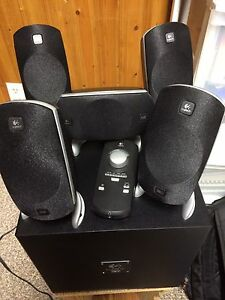 Logitech Speakers with Sub & remote