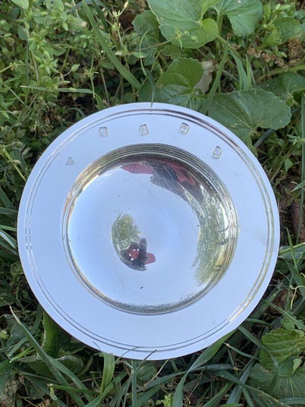 garrard & co Britannia sterling Wine Coaster Dish Bowl Fully Hallmarked