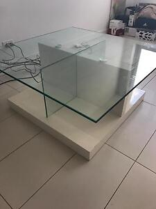 Coffee Table White & Glass Fortitude Valley Brisbane North East Preview