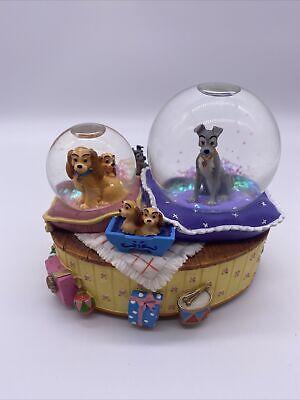 Disney Enesco Lady and the Tramp Musical Snow Globe Fur Elise