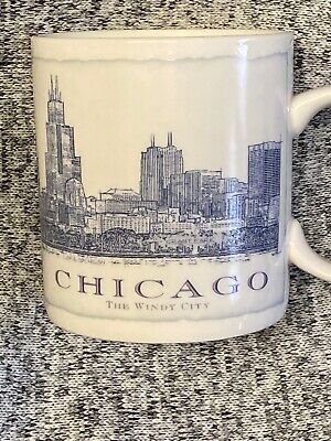 STARBUCKS CITY MUG CHICAGO COFFEE Magnificent Mile Mug Cup 18 oz 2006