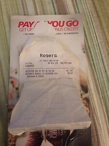 40$ rogers pay as you go for 30$