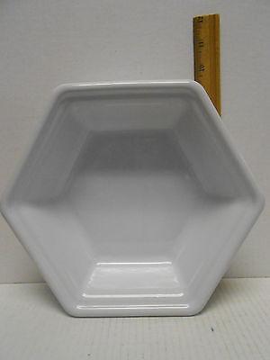 Emile Henry France Baking Dish Glossy White  Hexagon Baker 1.5 Qt