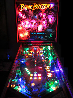 BONE BUSTERS Arcade Pinball Machine Gottlieb 1989 (Custom LED Excellent)