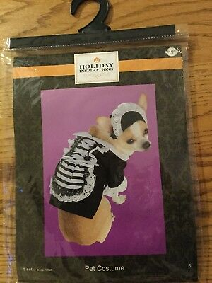 Holiday Inspirations Pet Costume French Maid Dress & Hat New So Small