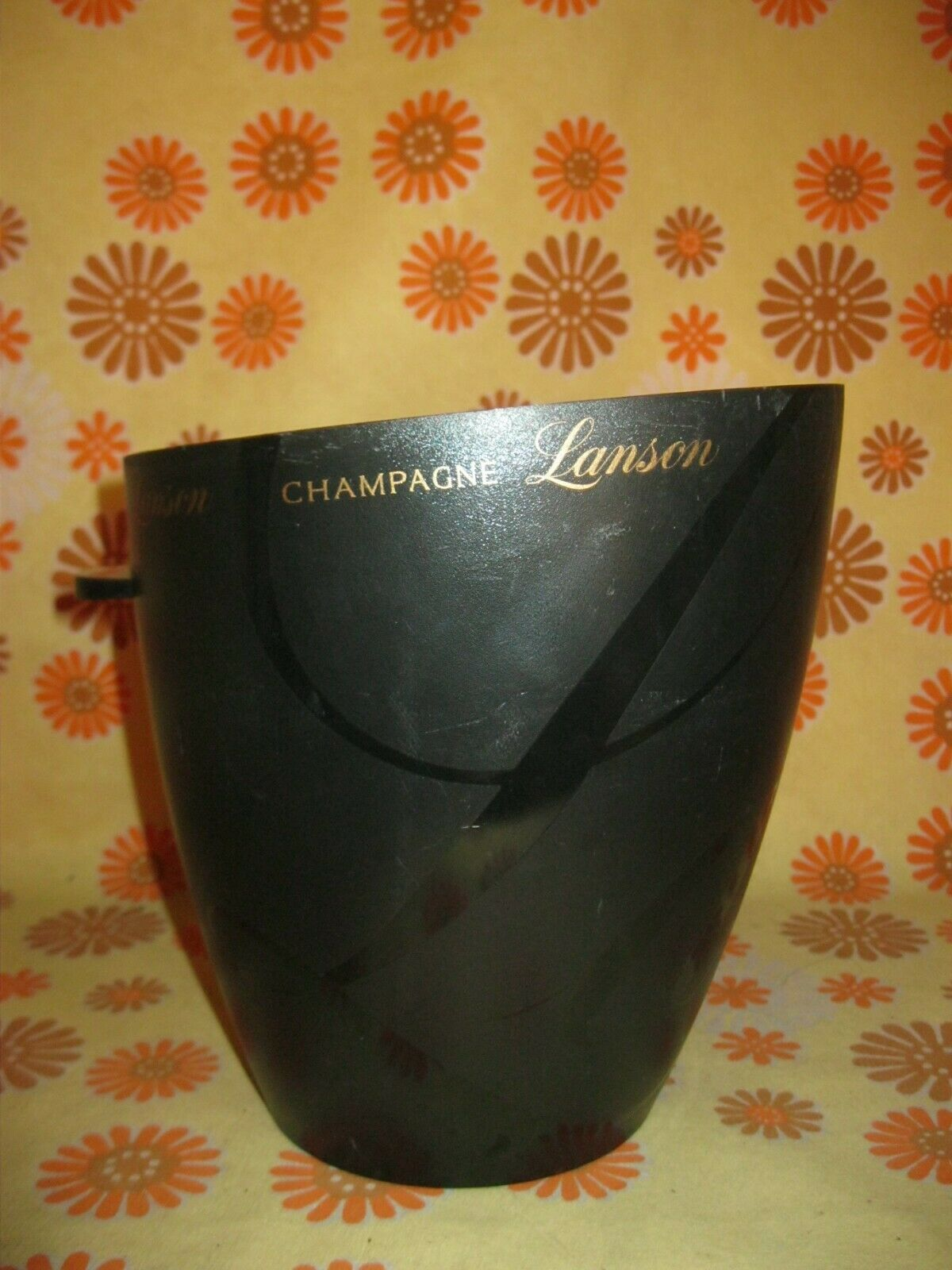 Ancien seau a champagne lanson en plastique pvc ice bucket wine glace french vin