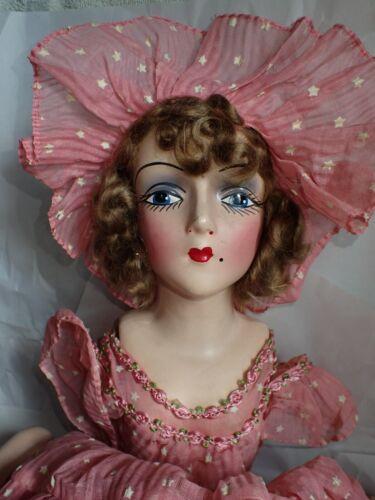 """Lovely Depression Era Vintage Boudoir Bed Doll Composition 27"""""""