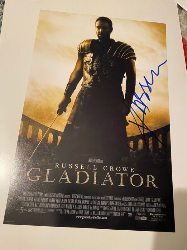GLADIATOR  RUSSELL CROWE OSCAR WIN SIGNED 12x18 Poster